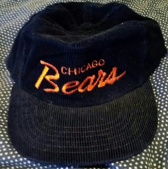 2dd7890a Vintage 80s Chicago Bears Corduroy Snapback Hat